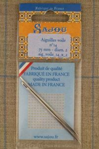 Two Sajou sail needles N°14, length 75mm, diametre 2mm
