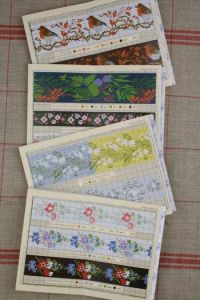 Red Sajou album n°905 : 11 borders to embroider in cross stitch