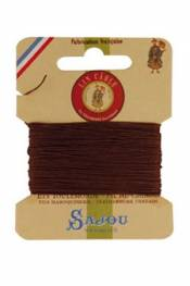 Waxed cable linen size 532 10m card - Colour 276 - Brown