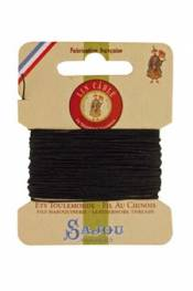 Waxed cable linen size 532 10m card - Colour 494 - Pine