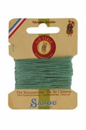 Waxed cable linen size 532 10m card - Colour 448 - Jade