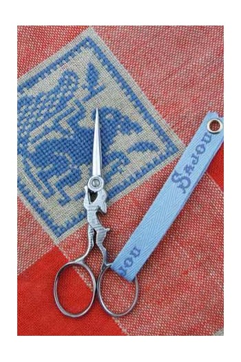 Sajou chromed embroidery scissors Hare model