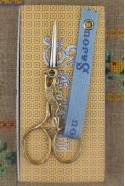 Gilded Hare embroidery scissors on their Sajou box