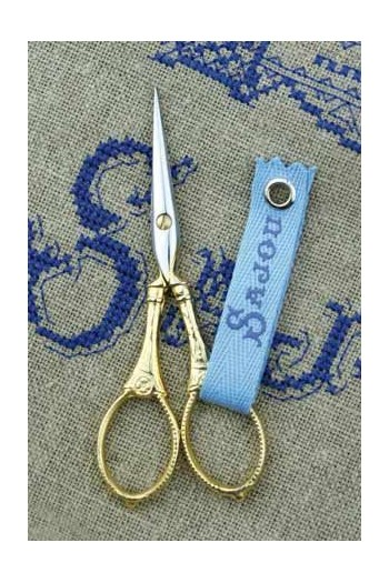 Sajou gilded embroidery scissors Langres model