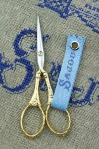 Gilded embroidery scissors  Langres model