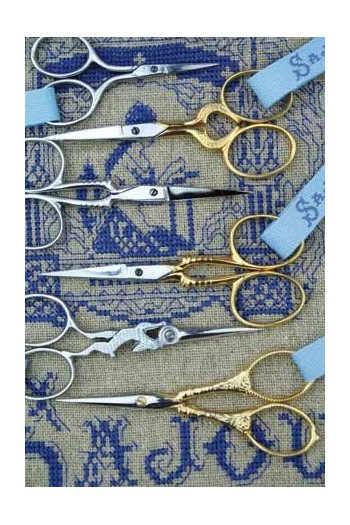 Reeditions of Sajou embroidery scissors