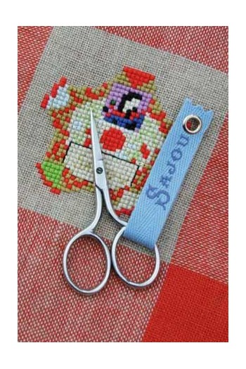 Sajou chromed miniature embroidery scissors Charmes model