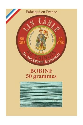 Fil de lin câblé glacé Fil Au Chinois n°432 Bobine 200 m - coloris 448 - Jade