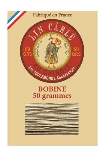 Fil de lin câblé glacé Fil Au Chinois n°432 Bobine 200 m - coloris 359 - Gris