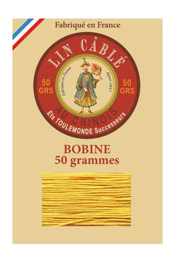 Fil Au Chinois waxed cable linen size 532 250m spool - Colour 508 - Yellow