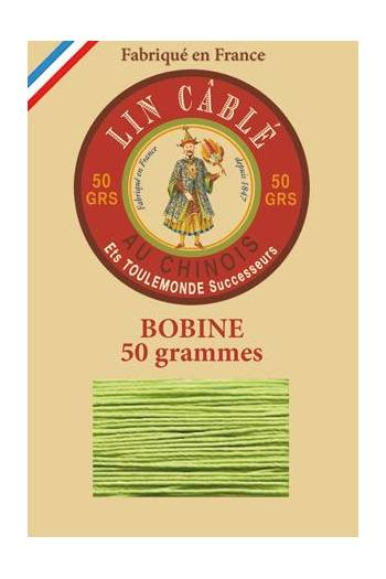 Fil Au Chinois waxed cable linen size 532 250m spool - Colour 455 - Light green