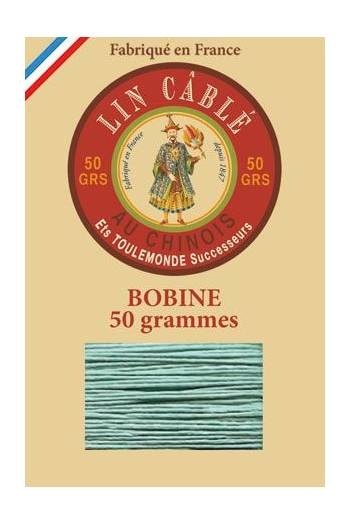 Fil Au Chinois waxed cable linen size 532 250m spool - Colour 448 - Jade
