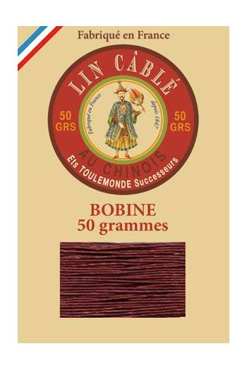 Fil Au Chinois waxed cable linen size 632 285m spool - Colour 425 - Brick