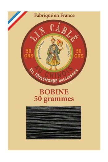 Fil Au Chinois waxed cable linen size 632 285m spool - Colour 494 - Pine