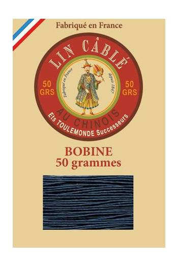 Fil Au Chinois waxed cable linen size 632 285m spool - Colour 266 - Blue