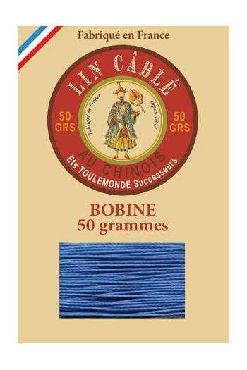 Fil Au Chinois waxed cable linen size 632 285m spool - Colour 665 - Royal blue