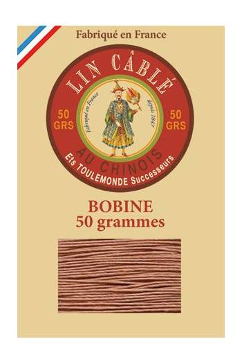 Fil Au Chinois waxed cable linen size 832 375m spool - Colour 330 - Fawn