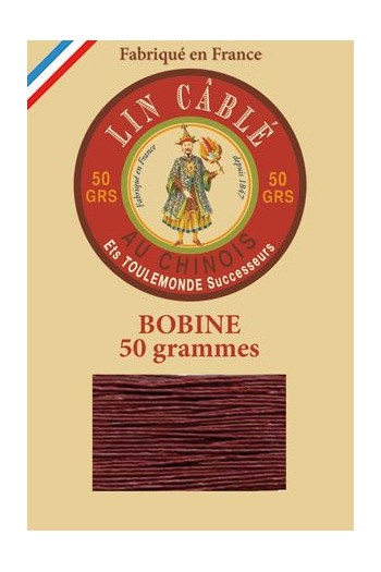 Fil Au Chinois waxed cable linen size 832 375m spool - Colour 425 - Brick