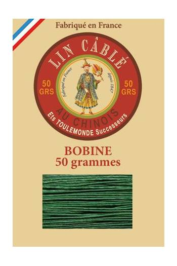 Fil Au Chinois waxed cable linen size 832 375m spool - Colour 767 - Green
