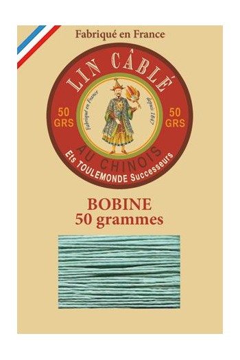Fil Au Chinois waxed cable linen size 832 375m spool - Colour 448 - Jade