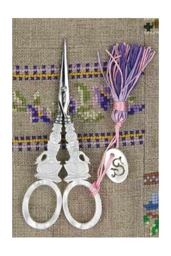 "Sajou mother of pearl style embroidery scissors - ""Swan"" model"