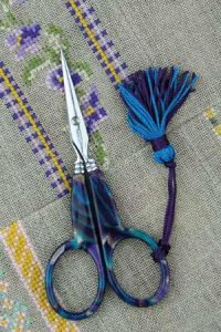 Sajou blue onyx style embroidery scissors