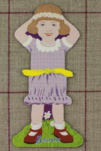 Front side of the Sajou little girl thread card (family 1) - Balsamie