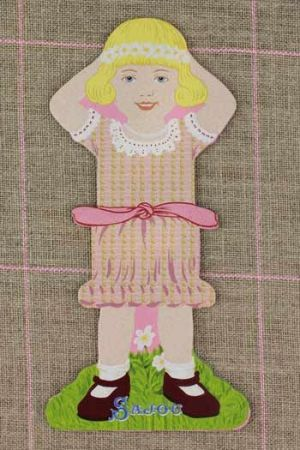 Little girl large thread card (family 1) - Flavie
