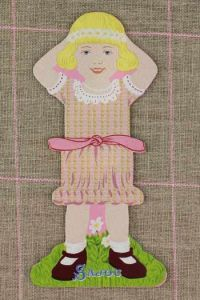 Front side of the Sajou little girl thread card (family 1) - Flavie