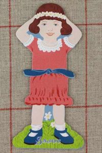 Front side of the Sajou little girl thread card (family 1) - Rosalie