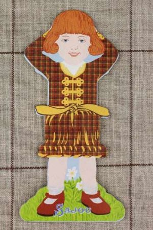 Little girl large thread card (family 2) - Catherine