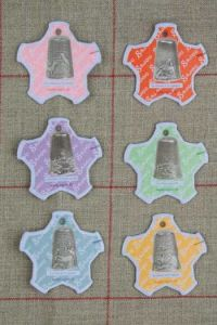 Six Sajou thread cards Dieppe model Silver thimbles