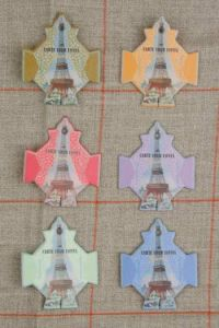 Six Sajou thread cards Paris model Eiffel towers