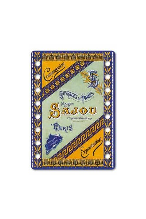 "Sajou thread organiser Jarnac Model - the cover of the Sajou famous albums frome the ""tapestry patterns"" serie"