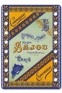 """Sajou thread organiser Jarnac Model - the cover of the Sajou famous albums frome the """"tapestry patterns"""" serie"""