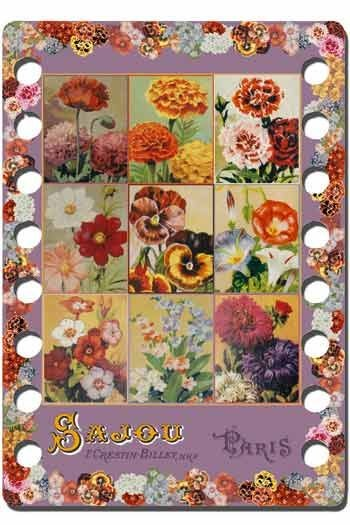 Sajou thread organiser Rochefort Model - vintage flower motif