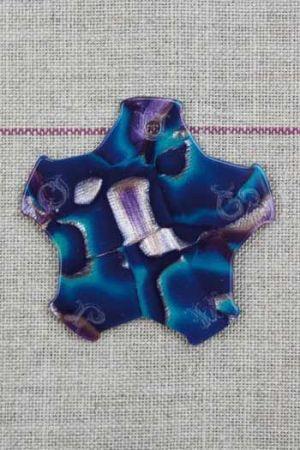 Garnkarte besonders in Onyx-Optik blau
