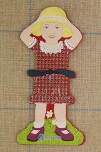 Sajou Little girl large thread card (family 3) - Frédérique