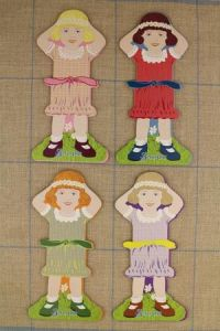 Sajou little girl thread cards family 1