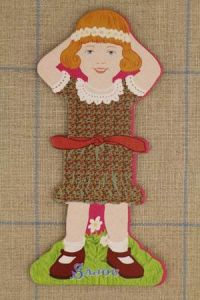 Sajou Little girl large thread card (family 3) - Véronique