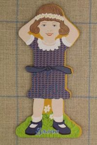 Sajou Little girl large thread card (family 3) - Monique