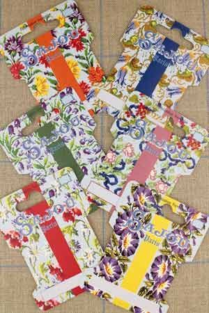 Ribbon and thread storage cards - Floral Motifs - Series 3