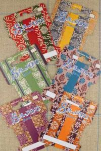 Six ribbon and thread storage cards  - Floral Motifs - Series 4