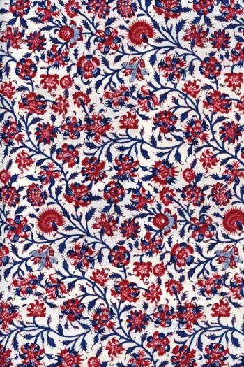 50 x 55cm swatch indienne fabric motif 2 on cream base
