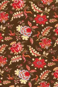 50 x 55cm swatch indienne fabric motif 5 on brown