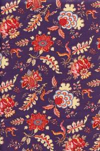 50 x 55cm swatch indienne fabric motif 5 on purple