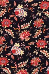 50 x 55cm swatch indienne fabric motif 5 on black