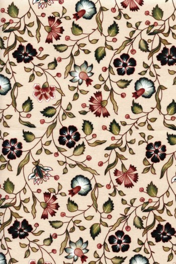 50 x 55cm swatch indienne fabric motif 7 on ecru