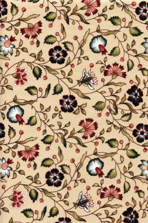 Fabric on tea base floral motif 7 fat quarter of indienne for Architecture indienne