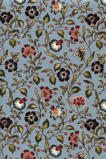 50 x 55cm swatch indienne fabric motif 7 on blue